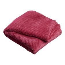Rasberry Popcorn Fleece Throw Rug