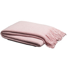 Pink Lurex Throw Blanket