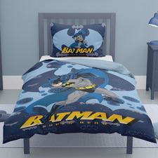 Blue Batman Cotton Single Quilt Cover Set