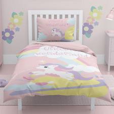 Pink Unicorn Wonderland Cotton Single Quilt Cover Set