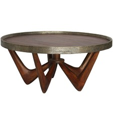 Stained Monterrey Brass Trim Coffee Table