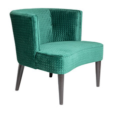 Sixties Quilted Velvet Armchair