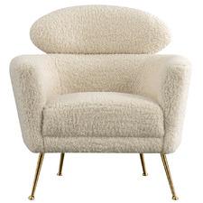 Cream & Gold Minghetti Faux Fur Armchair