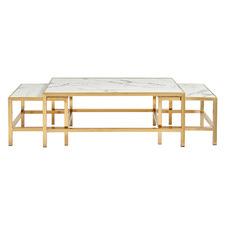 3 Piece Triumphant Faux Marble Nesting Table Set
