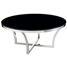 Black Opulence Round Glass Coffee Table