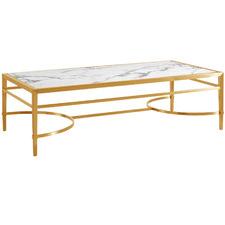 Gold Georgian Faux Marble Coffee Table