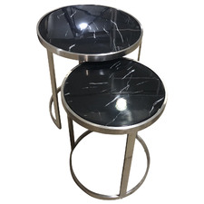 2 Piece Sterling Nesting Side Table Set