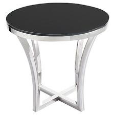 Black Opulence Glass Side Table