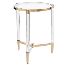 Floating Glass Top Side Table