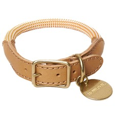 Ginger We Are Tight Leather Dog Collar