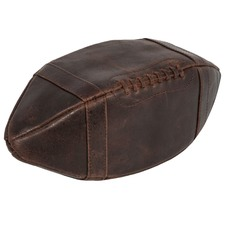 American Football Leather Wash Bag