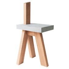 Wood & Concrete Mu Chair