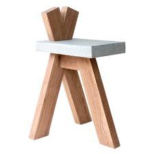 Wood & Concrete Ben Side Table