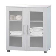 White Aspen Low Line Double Door Cupboard