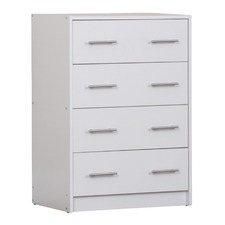 White Riley Chest of 4 Drawers