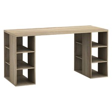 Bloc Desk with Storage Shelves
