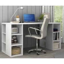 Bruno Desk with Storage Shelves