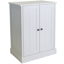 White Hamptons Double Door Cupboard