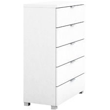 White Gloss Kyana 5 Drawer Chest