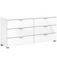 White Gloss Kyana 6 Drawer Chest
