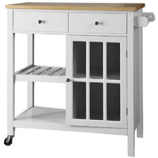 Montauk Wooden Kitchen Trolley with Drawers