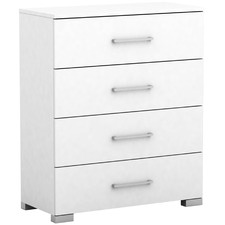 White Tarin Wooden Chest of Drawers