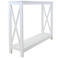 White Long Island Console Table