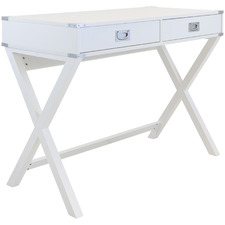 White Alexa 2 Drawer Desk