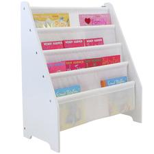 White Kids' Classic Style 4 Tier Bookcase