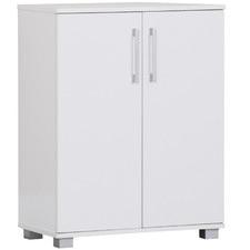 White Double Door Cupboard with Shelves