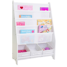 Mia Kids' Book Display with 3 Storage Tubs