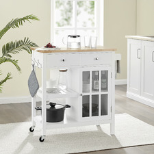 Wooden Kitchen Trolley with Drawers
