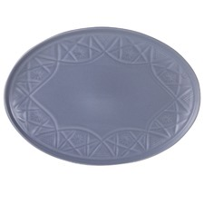 Grey Hardware Lane Oval Platter
