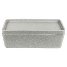 2 Piece Grey Rectangular Stack, Serve & Store Serving Bowl & Plate Set
