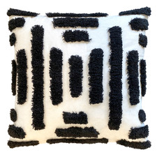Tufted Embroidered Wellington Cotton-Blend Cushion