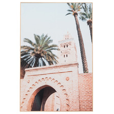 Moroccan Architecture Framed Canvas Wall Art