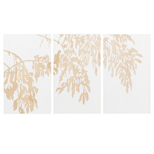 White Willow Wooden Wall Art Triptych