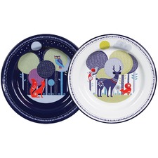 Day & Night Enamel Plates (Set of 2)
