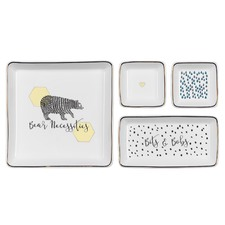 Bear Necessities Ceramic Trinket Trays