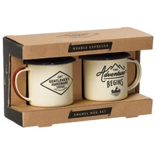 Double Espresso Enamel 150mL Mug Set