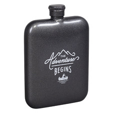 180ml Gunmetal Stainless Steel Hip Flask