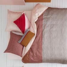 Pale Blush & Sand Oilily Cotton Sateen Quilt Cover Set