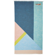 Oilily Stormy Waves Printed Cotton Beach Towel