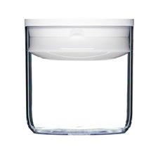 0.6L White Round Pantry Jar (Set of 4)