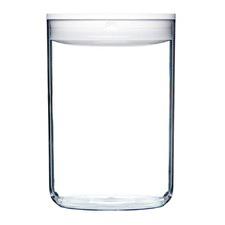 4L White Round Pantry Jar (Set of 4)
