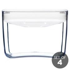 0.9L White Cube Pantry Jar (Set of 4)