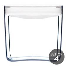 1.9L White Cube Pantry Jar (Set of 4)