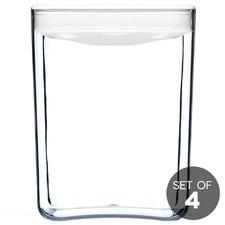 2.8L White Cube Pantry Jar (Set of 4)