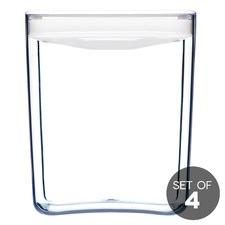 3.3L White Cube Pantry Jar (Set of 4)
