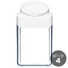 4.2L ClickClack White Pantry Store All (Set of 4)